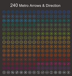 Full color Metro arrows and direction vector