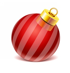 Glass sphere Christmas toy vector image