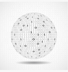 Globe of binary code abstract technology ball vector