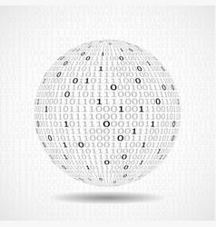 globe of binary code abstract technology ball vector image