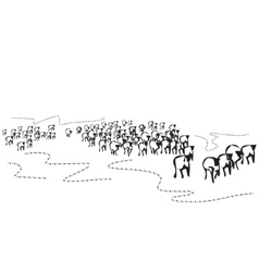 Hand drawn herd vector image