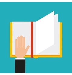 Hands human with book reading vector
