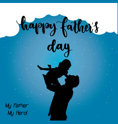 happy fathers day celebration vector image
