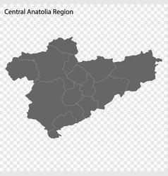 High quality map is a region turkey vector