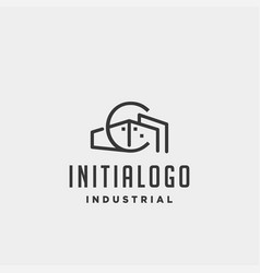 Initial letter c real estate logo design vector