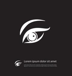 isolated eyelid icon eyesight element can vector image