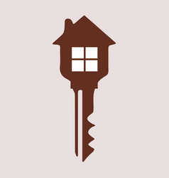 Key with a house vector