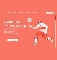 landing page basketball tournament vector image