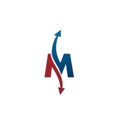 letter m swoosh vector image
