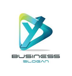 Letter y media logo vector