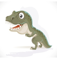 Little Tyrannosaurus isolated on white background vector image