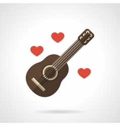 Loving music flat color icon vector image