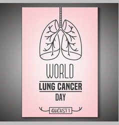 lung cancer day vector image