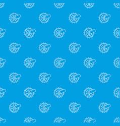 mining cutting wheel pattern seamless blue vector image