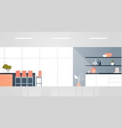 modern kitchen with furniture empty no people vector image