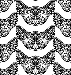 monochrome cat faces vector image