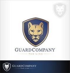 Mountain lion puma cougar vector