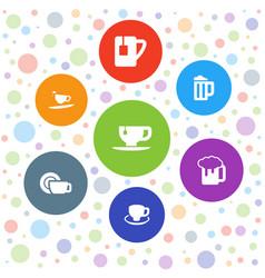Mug icons vector