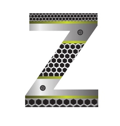 perforated metal letter Z vector image