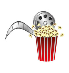 Pop corn with film production icon vector