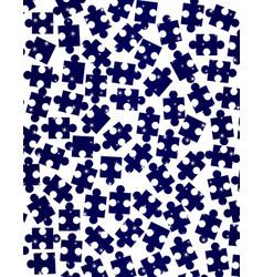 random jigsaw pieces vector image