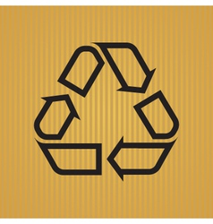 Recycling Symbol Outlined vector image