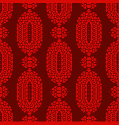 Red ornamental seamless pattern endless texture vector