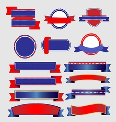 Ribbons and Banners American vector image