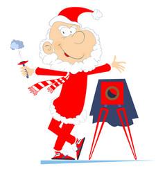 Santa claus a photographer vector