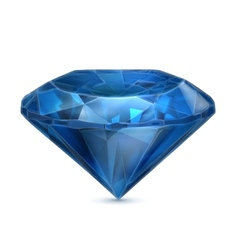 Sapphire blue icon vector image