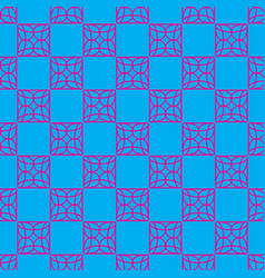 seamless pattern on the cyan background vector image