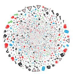 Secrecy symbols centrifugal circle vector
