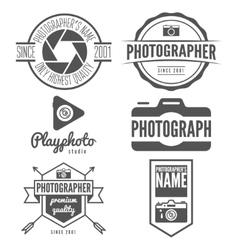 Set of logo emblem print sticker label or vector image