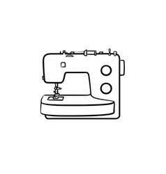 sewing-machine hand drawn sketch icon vector image