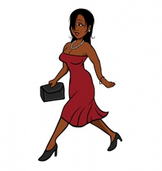 sexy woman dress walking vector image