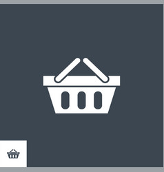 shopping basket related glyph icon vector image