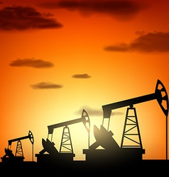 Silhouette oil pump vector image vector image