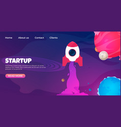 start up landing page web page design templates vector image