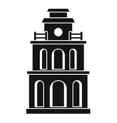 taiwan clock building icon simple style vector image