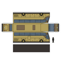 The paper model of a beige coach vector