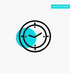 Time timer compass machine turquoise highlight vector