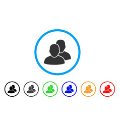 users rounded icon vector image