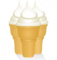 Vanilla ice creams vector