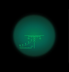 view through the optical sight night vision style vector image