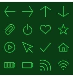Volumetric Web Icon Collection vector