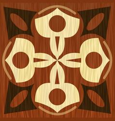 Wooden inlay light and dark wood patterns veneer vector