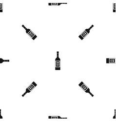 bottle of vodka pattern seamless black vector image
