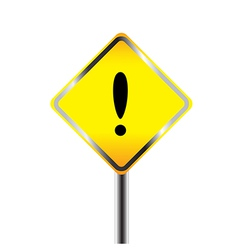 Exclamation danger signs vector image