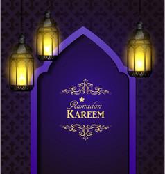 islamic design mosque door vector image vector image