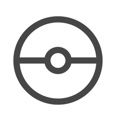 Pokeball icon in gray color vector image vector image